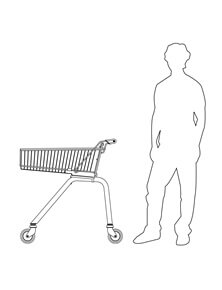 80 Litre Light Shopping Trolley with 125mm diameter castors