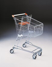 80 Litre Shopping Trolley with Baby Carrier & 100mm diameter castors