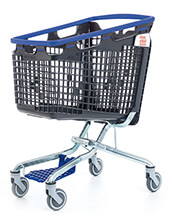 160 Litre LOOP 160 Plastic Shopping Trolley - Blue Handle
