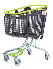 160 Litre LOOP 160 Plastic Shopping Trolley - Green Handle
