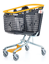 160 Litre LOOP 160 Plastic Shopping Trolley - Yellow Handle